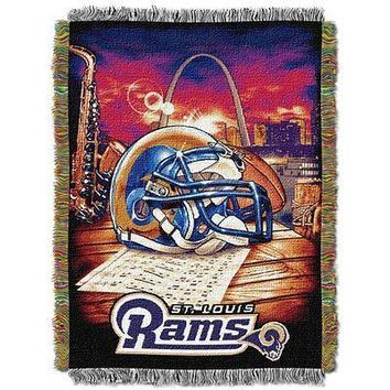 St. Louis Rams NFL 48 x 60 Woven Tapestry Throw