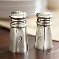 Antique Silver Salt & Pepper Shakers