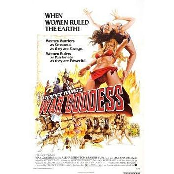 War Goddess Movie poster Metal Sign Wall Art 8in x 12in