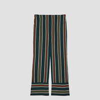 STRIPED PYJAMA STYLE TROUSERS