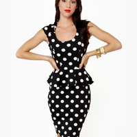 Spots Going On Midi Polka Dot Dress