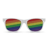 RAINBOW FLAG White Retro Party Sunglasses