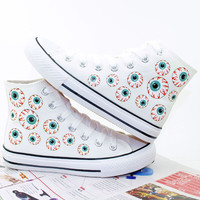 Japanese harajuku eye canvas shoes