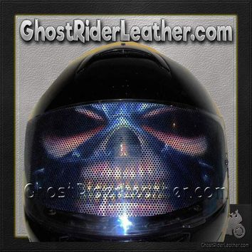 Heavy Metal Motorcycle Helmet Visor Sticker / SKU GRL-HEAVYMETAL-HI