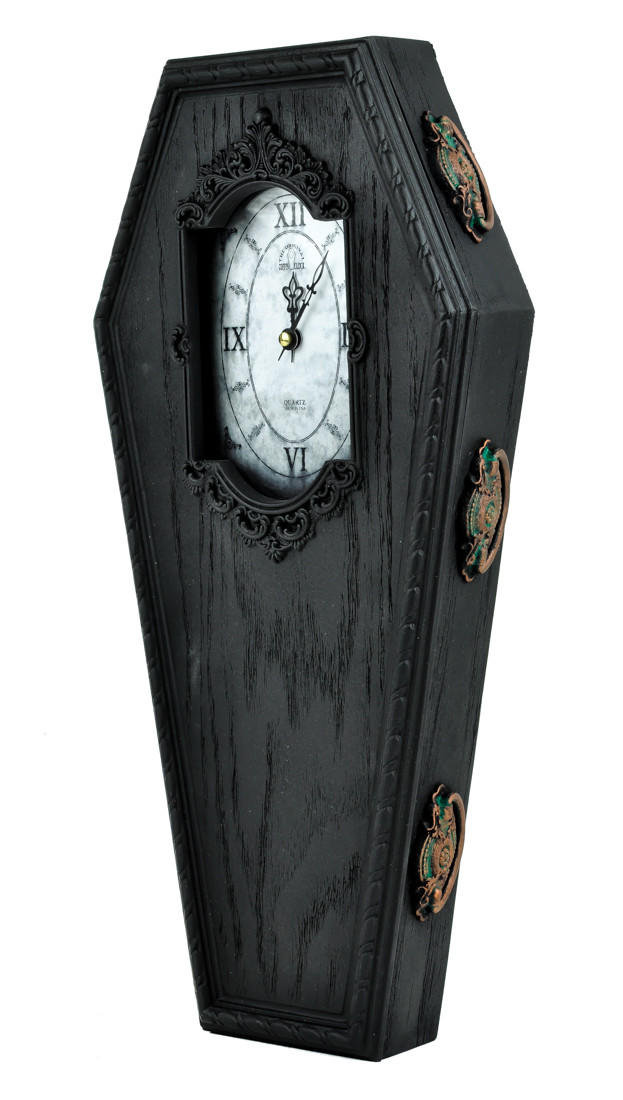 Seattle Lighting Stores Black Victorian Gothic Coffin Wall Clock from ...