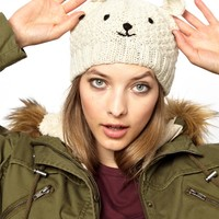People Tree | People Tree Cream Polar Bear Hat at ASOS