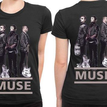 DCCKG72 Muse Cover 2 Sided Womens T Shirt