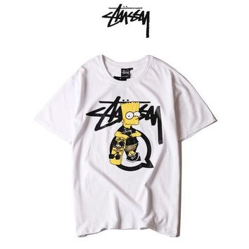 Gotopfashion Stussy Woman Men Fashion Print Tunic Shirt Top Blouse