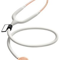 MDF MD One Stainless Steel Premium Dual Head Stethoscope - Rose Gold Edition - White (MDF777RG-29)