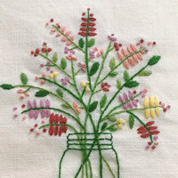 plus_ Bonus Free Pattern_Bouquet In The Bottle_perfect for gift_PDF files_instant down load files_Hand Embroidery Pattern_NEW_Updated_Guide