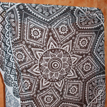 Bohemian tapestry mandala bed throw Wall Hanging
