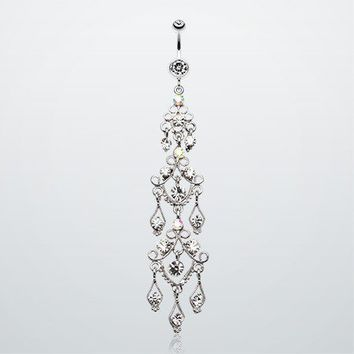 Majestic Chandelier Belly Ring