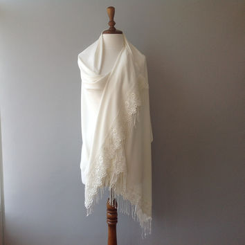 wedding bolero, bridal shrug, ivory shawl