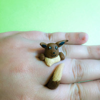 Eevee pokemon wrap around ring