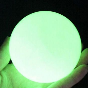 EZLIFE Natural luminous Ishihara Specimens Mineral Crystal Blue Luminous Ball Fluorescent Pearl Jewelry Gift  Decoration Craft