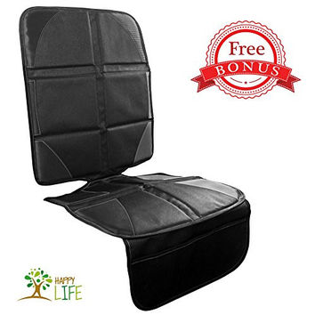 #1 Car Seat Protector | Click to see why? | FREE Decal Sticker and Coupon Code | Ultimate child car seat protector for back seat from scratches, spills, and permanent damage! Also great for dogs!