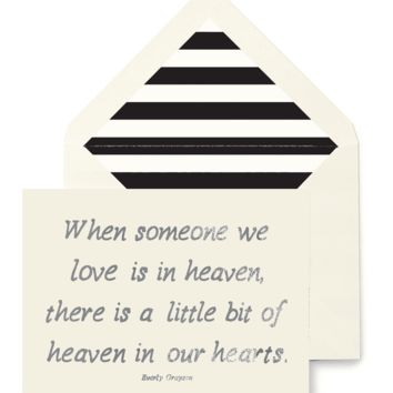When Someone We Love Is In Heaven Greeting Card, Single Folded Card