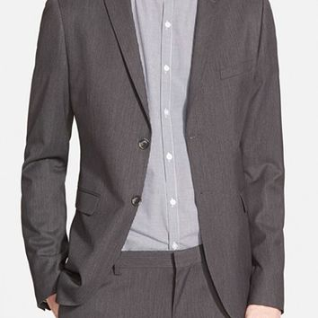 Men's Topman Charcoal Skinny Fit Suit Jacket ,