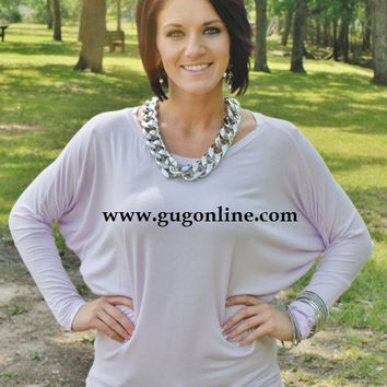 A Spot To Snuggle Lavender Slouchy Top