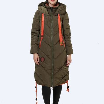 Women's Winter Jacket New Listing Parkas Female Winter Coat Fashion Loose Patchwork