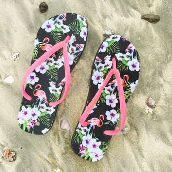 Flamingo Frenzy Sandal