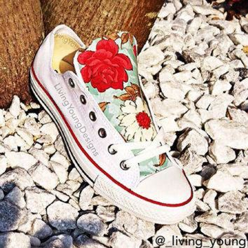 DCKL9 Floral Converse Shoes / Floral Chucks