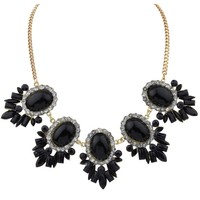 Boho Oval Faux Stone Bib Necklace - OASAP.com