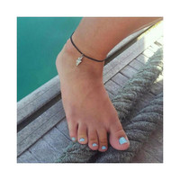 Cute little charm anklet - Elephant/Sunflower/Turtle charm on adjustable cord
