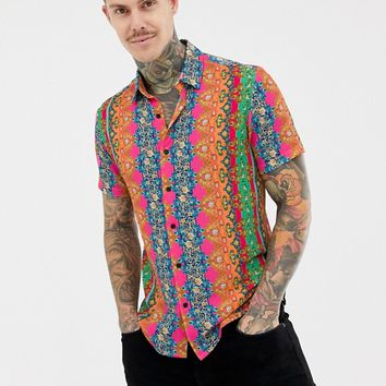 Reclaimed Vintage inspired regular fit shirt with baroque print at asos.com