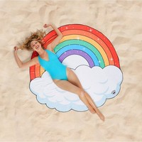 Big Mouth Rainbow Beach Blanket
