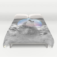 Maybe the Wolf Is In Love with the Moon / Unrequited Love Duvet Cover by soaring anchor designs ⚓ | Society6
