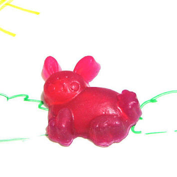 Soap Bunny Soap Pink Red Rose and Thyme Glycerin by casacampbell