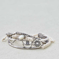 AEO Silver and Cream Arm Party , Silver