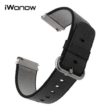 22mm Quick Release Nylon Watchband for Mido Tissot T035 Longines Omega Watch Band Fabric Strap Wrist Bracelet Black Brown White