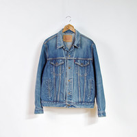 Vintage LEVI'S 70503 04 Denim Jacket / Levi's Strauss Trucker Jacket / Man Size L