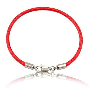 Fashion Classic Rope Leather Black Bracelet Red Thread Line Jewelry Red String Bracelet for Women Men Lobster Bracelets SL501