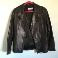 Vintage clean and classy #moto leather jacket by Michael Joseph. ...