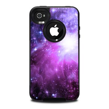 The Violet Glowing Nebula Skin for the iPhone 4-4s OtterBox Commuter Case