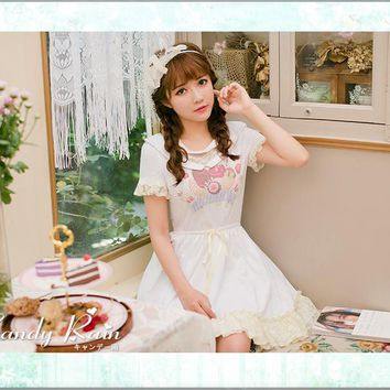 Princess sweet lolita Candy Rain  new style printing princess one-piece dress C22AB7120