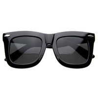 Oversize Thick Horned Rim Sunglasses