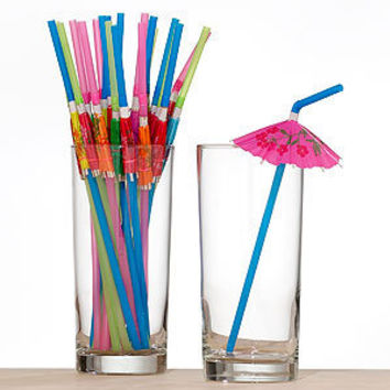 Umbrella Straws, Set of 24 | Bar| Kitchen & Dining | World Market