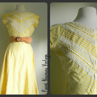 SUMMER SALE vintage 50s LEMON Yellow by PasseNouveauVintage
