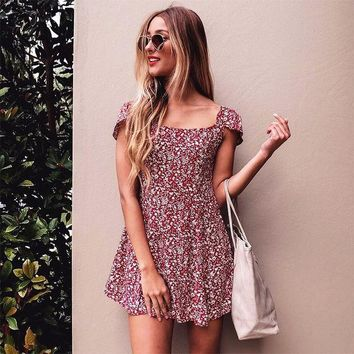 ac PEAPON Summer Sexy Slim Floral One Piece Dress [10612545228]