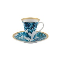 Gold Exotic Coffee Cup & Saucer