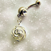 VALENTINE SALEBelly Ring 925 Sterling Silver by Aim4Beauty on Etsy