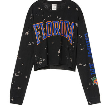University Of Florida Cropped Long Sleeve Campus Tee - PINK - Victoria's Secret