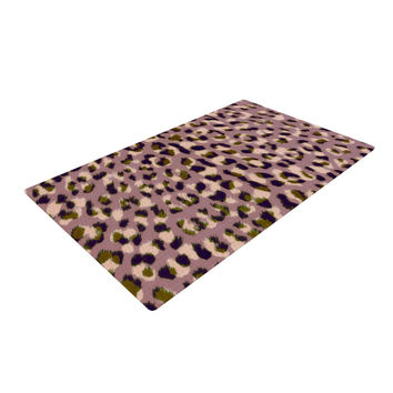 "Vasare Nar ""Leo Cheetah"" Animal Pattern Woven Area Rug"