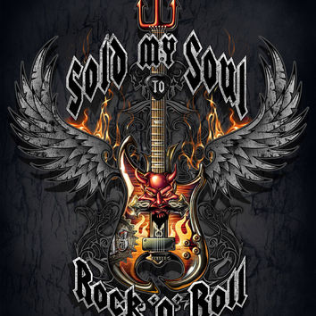 Sold My Soul To Rock N Roll Queen Signature Blanket - Free Shipping in the Continental US!