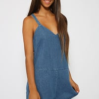 The Fifth Label - Lost Soul Playsuit - Denim