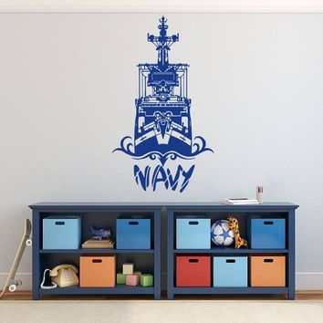 ik738 Wall Decal Sticker Room Decor Wall US Army navy bedroom